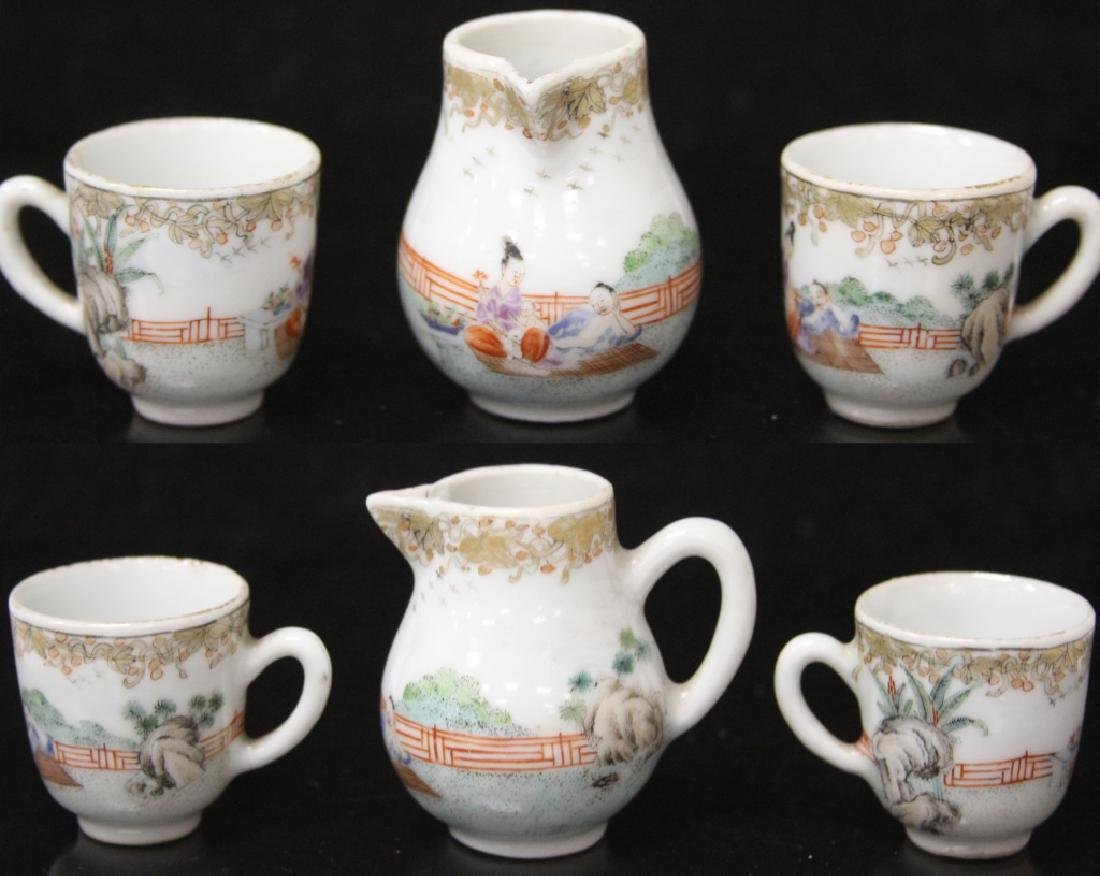 (10) PC. CHINESE PORCELAIN PAINTED TEA SERVICE SET - 9