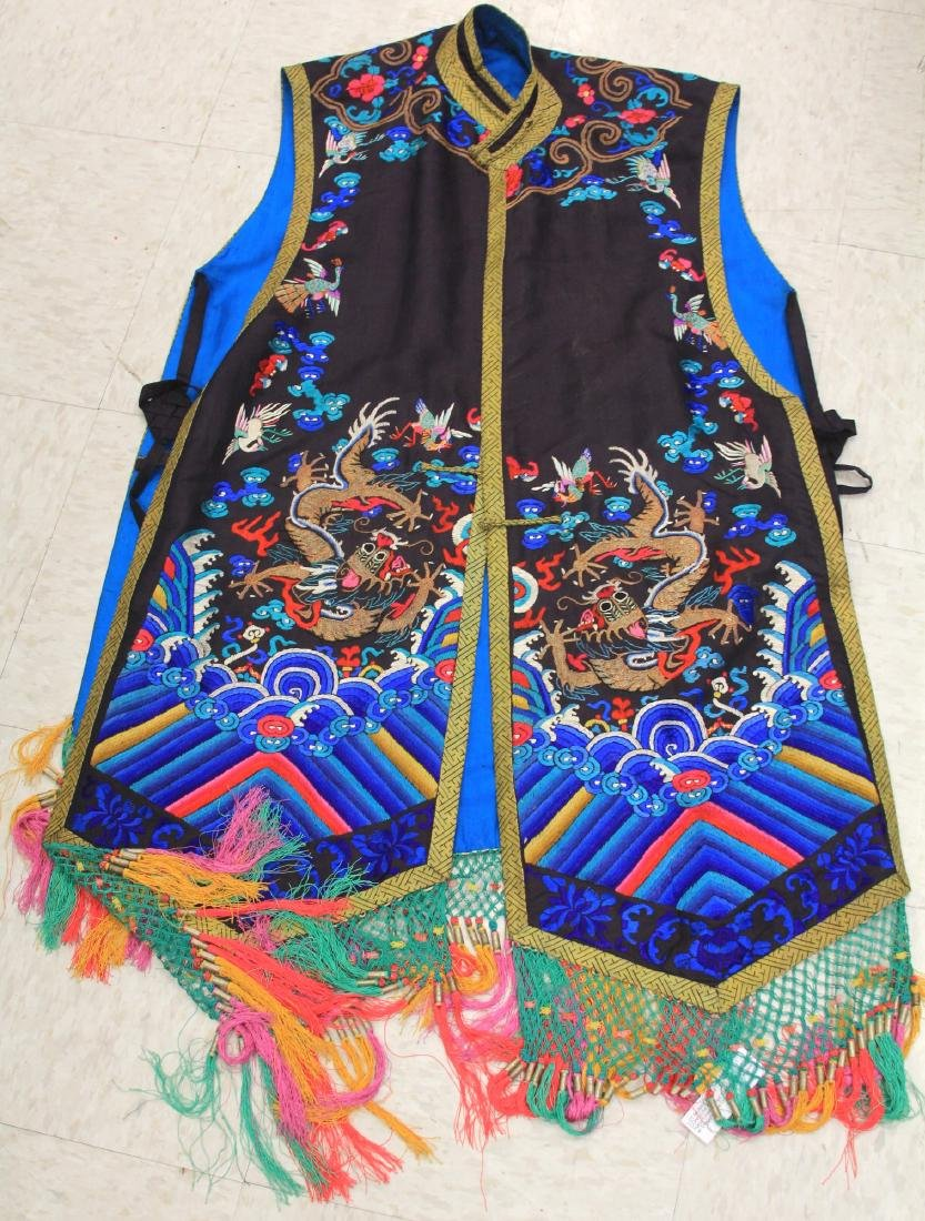 VINTAGE CHINESE EMBROIDERED ROBE