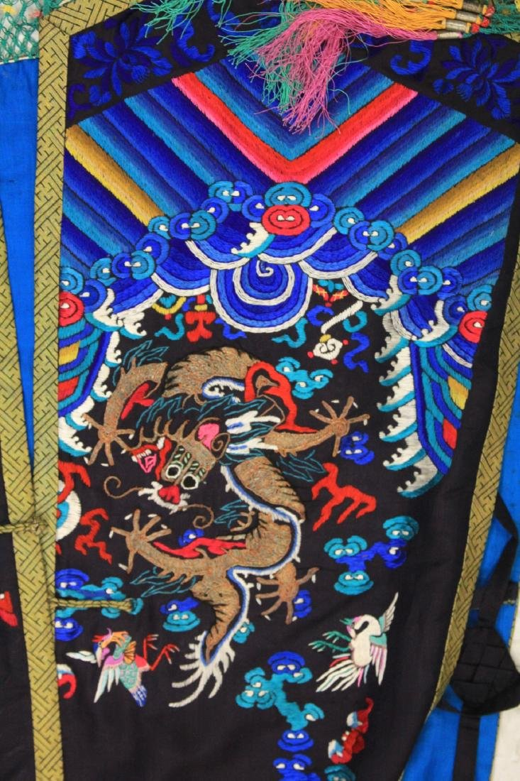 VINTAGE CHINESE EMBROIDERED ROBE - 5