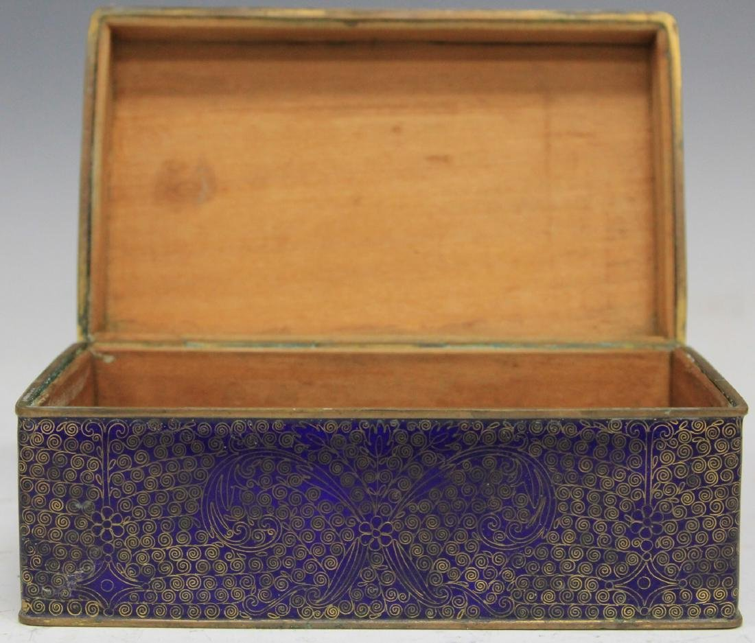 VINTAGE CHINESE CLOISONNE TRAY, DISHES, BOX SET - 4