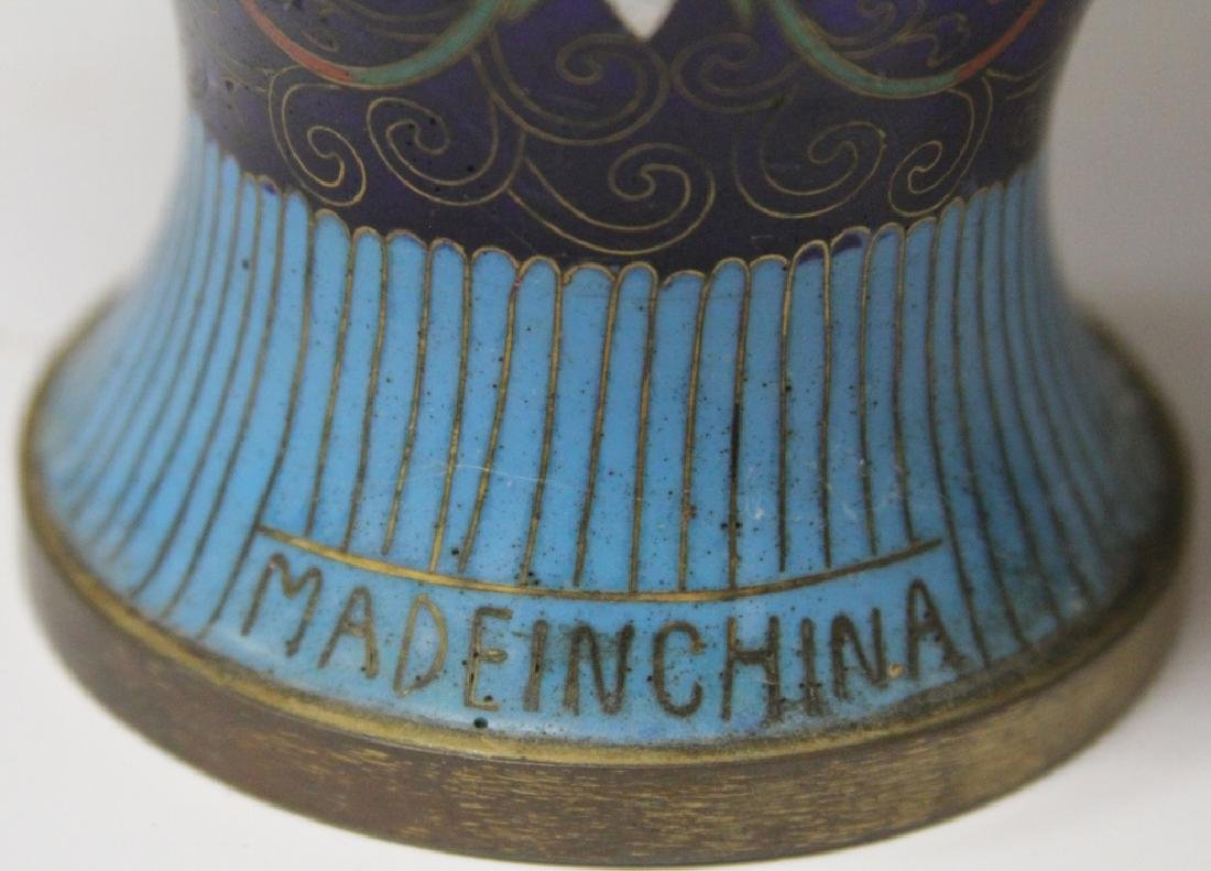 LOT OF (3) CHINESE CLOISSONE VASES, CHALICE - 5