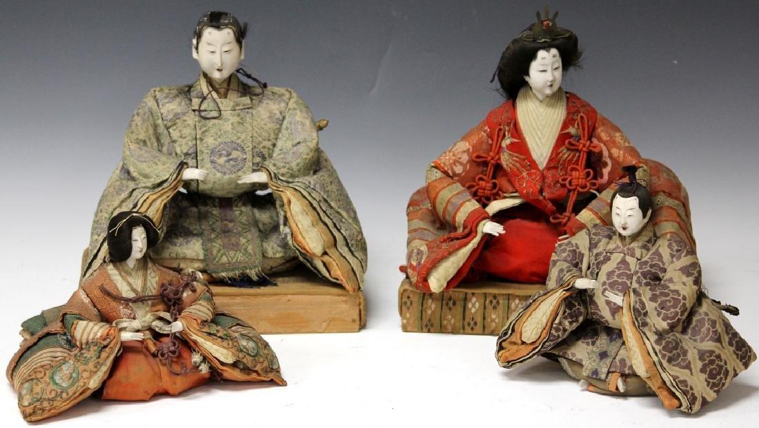 LOT OF (4) VINTAGE JAPANESE NOH DOLLS