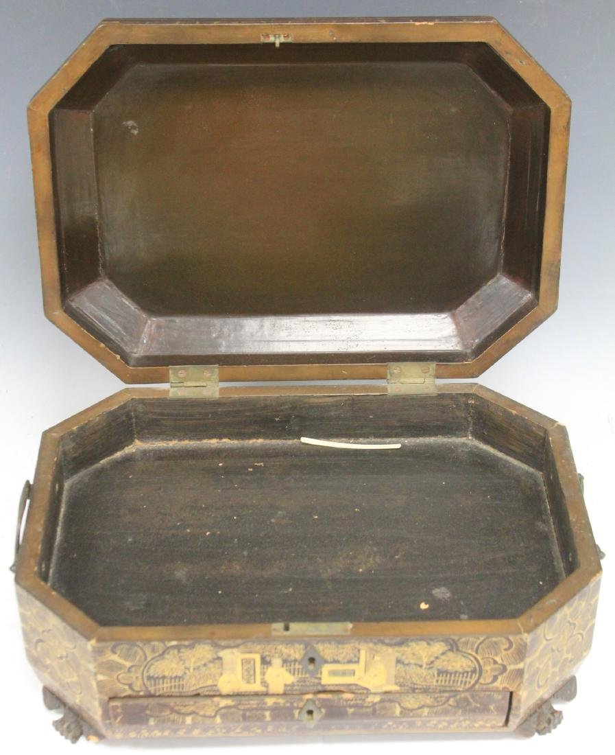18TH C. CHINESE EXPORT LACQUERED BOX - 3