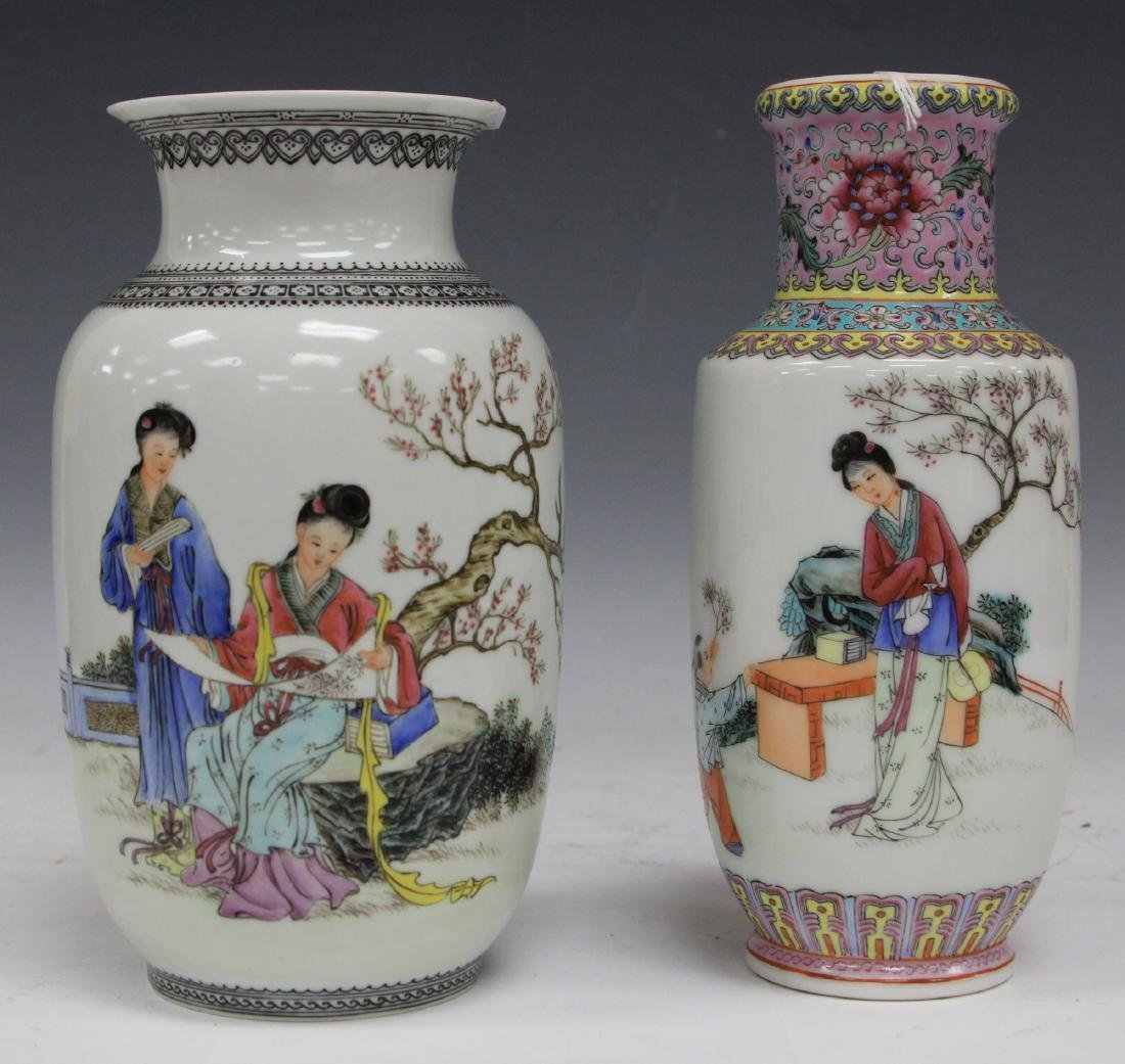 LOT OF (2) CHINESE REPUBLIC PORCELAIN VASES
