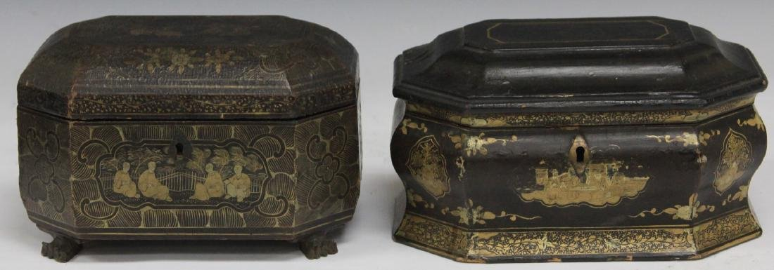 LOT OF (2) CHINESE EXPORT LACQUERED BOXES