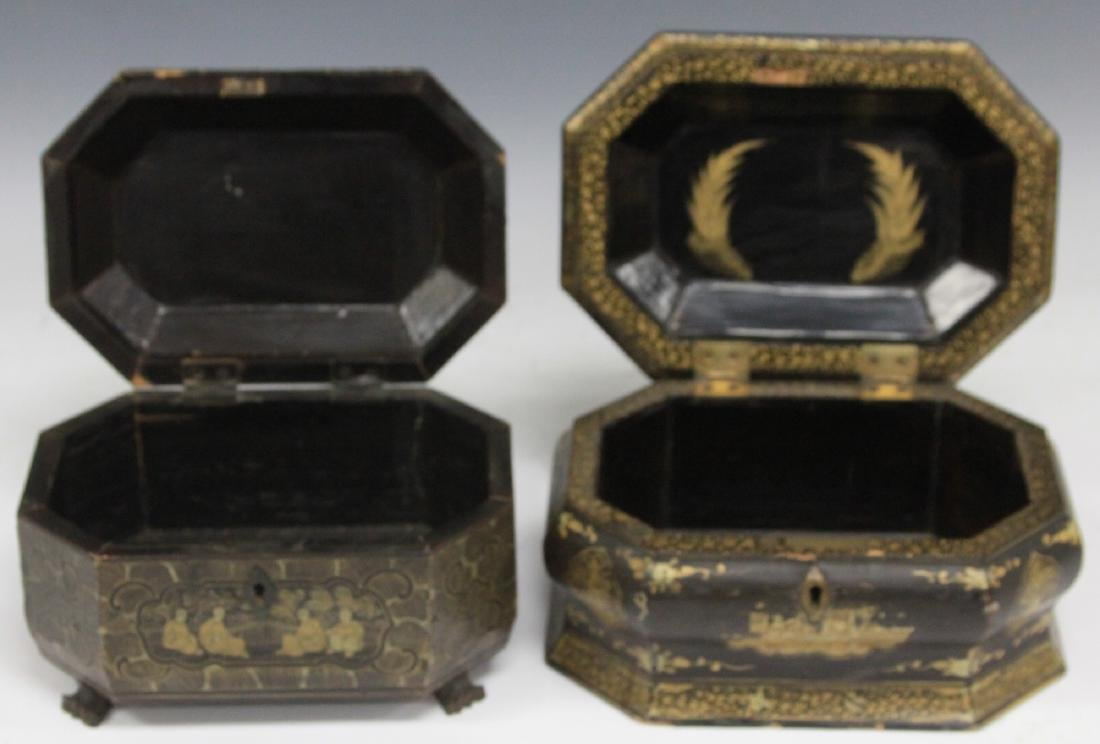 LOT OF (2) CHINESE EXPORT LACQUERED BOXES - 2