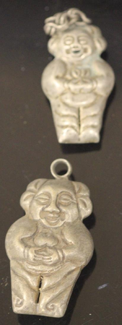 LOT OF (20) CHINESE SILVER FIGURAL PENDANTS - 5