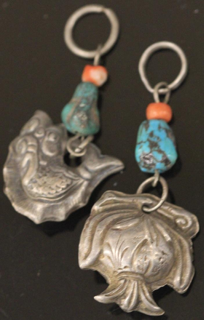 LOT OF (15) CHINESE SILVER FIGURAL PENDANTS - 2