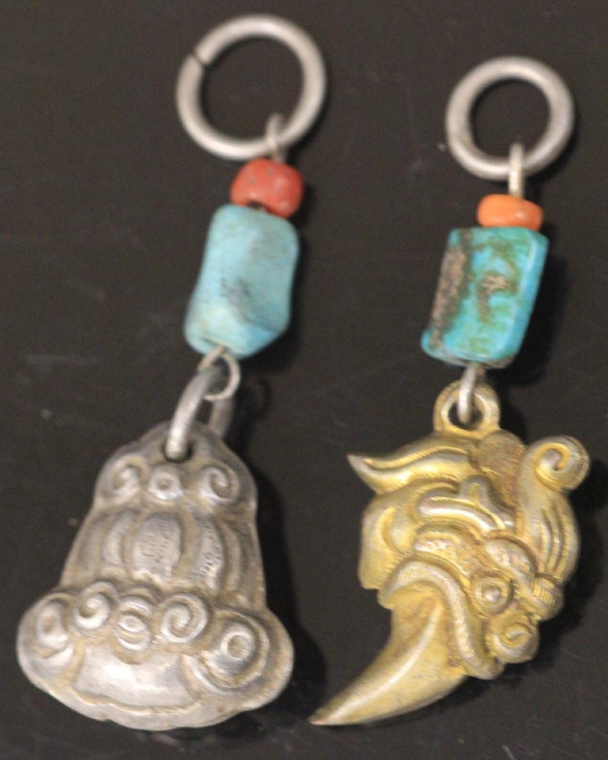 LOT OF (15) CHINESE SILVER FIGURAL PENDANTS - 3