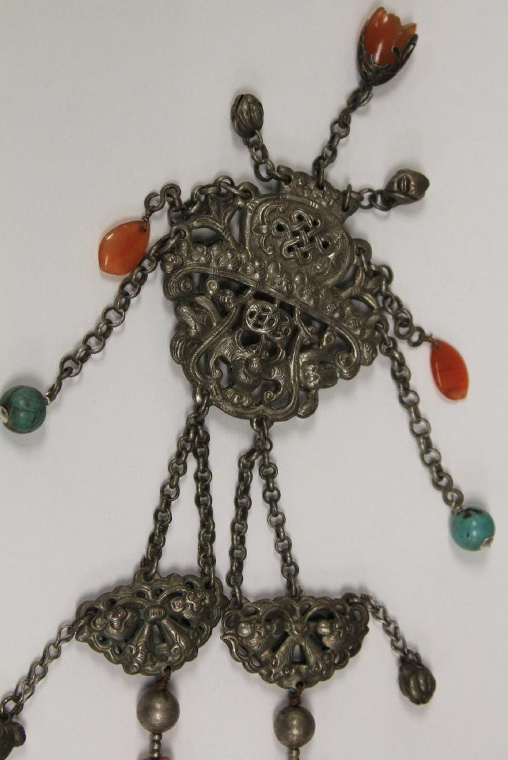 VINTAGE CHINESE SILVER NECKLACE - 3