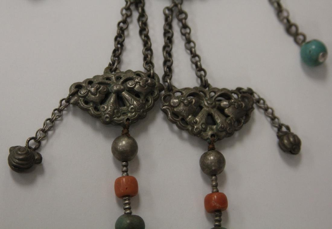 VINTAGE CHINESE SILVER NECKLACE - 5