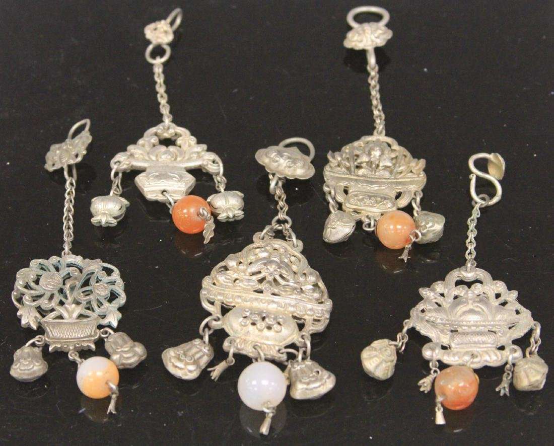 LOT OF (5) VINTAGE CHINESE SILVER PENDANTS