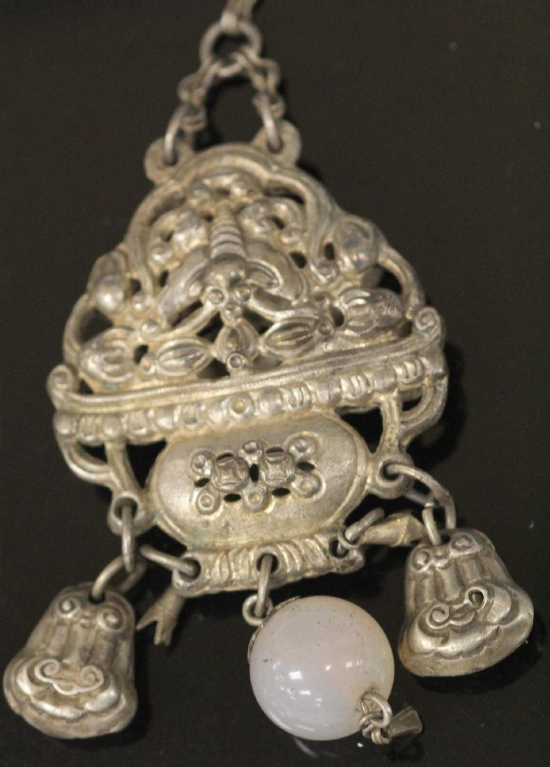 LOT OF (5) VINTAGE CHINESE SILVER PENDANTS - 4