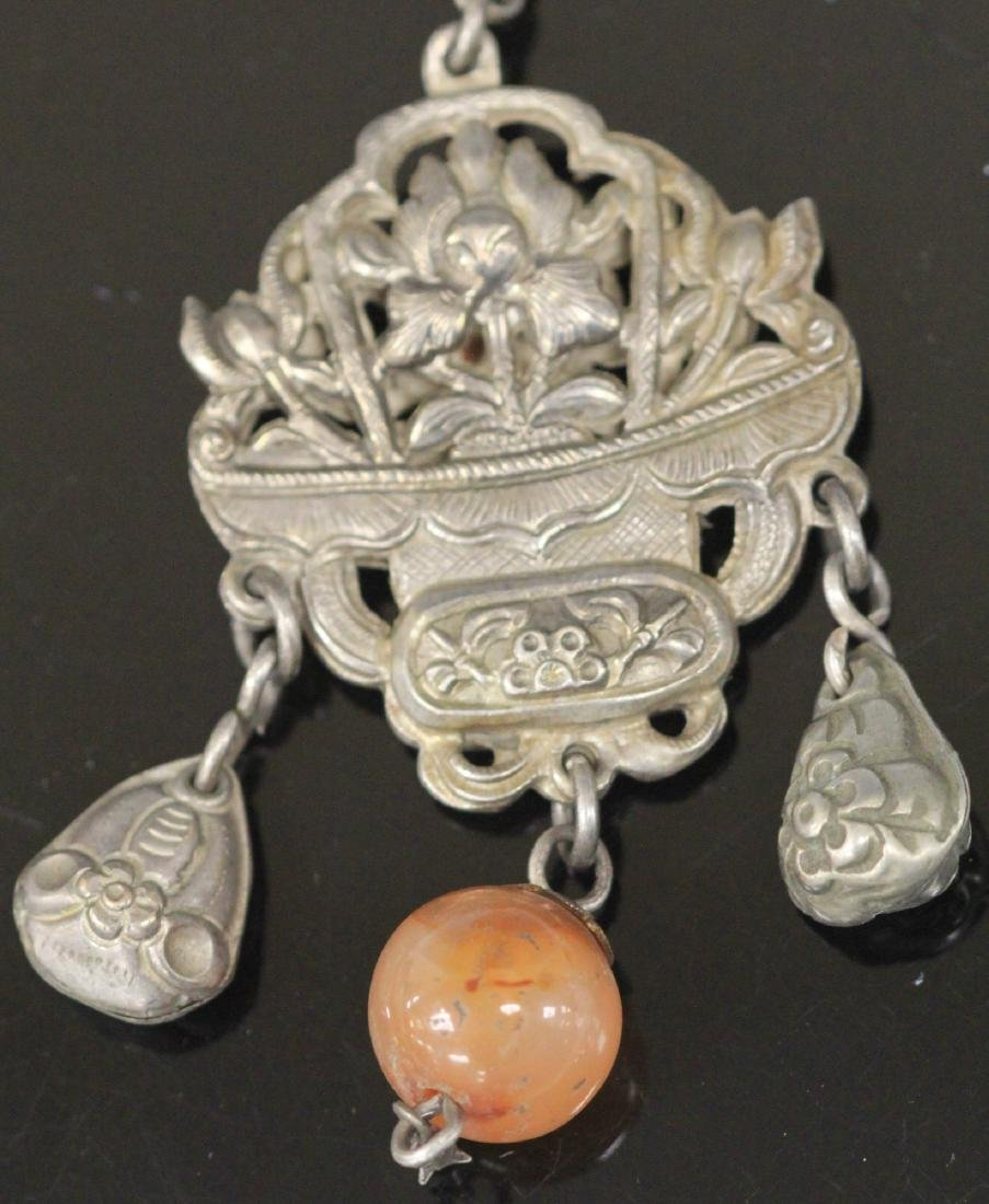 LOT OF (5) VINTAGE CHINESE SILVER PENDANTS - 5