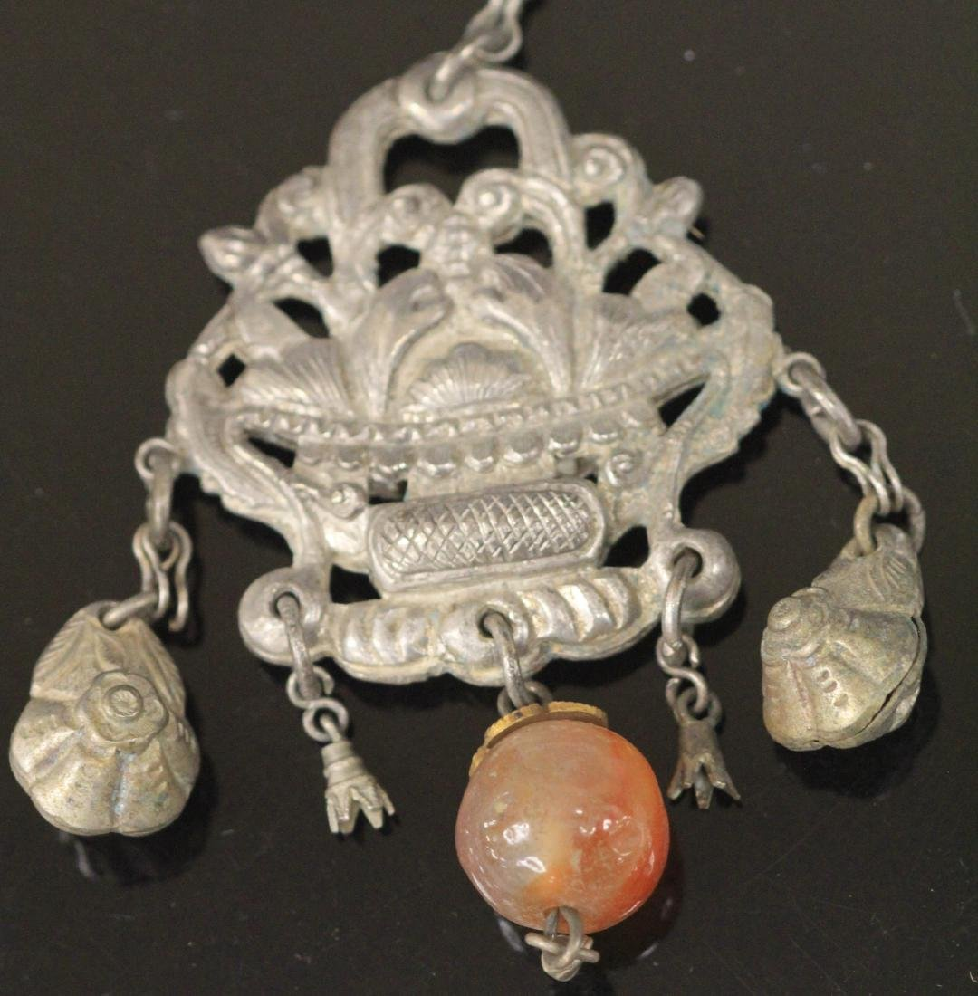 LOT OF (5) VINTAGE CHINESE SILVER PENDANTS - 6
