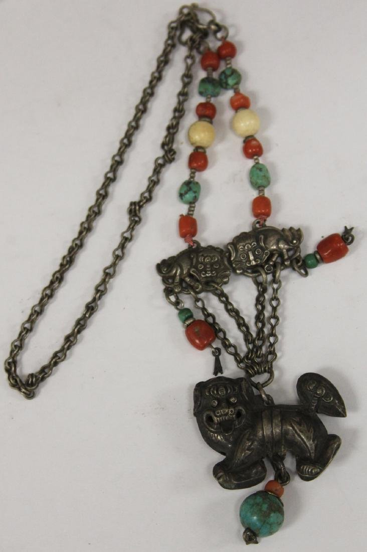 VINTAGE CHINESE SILVER NECKLACE