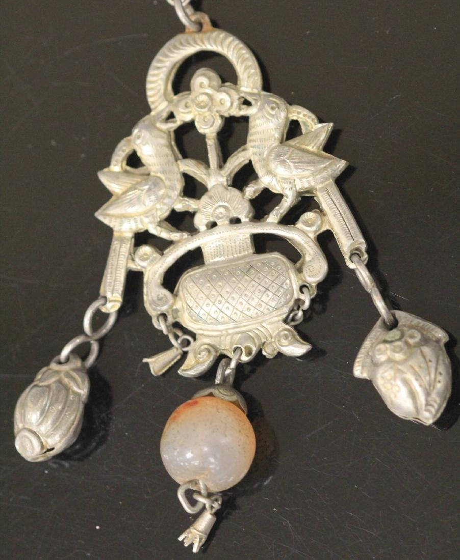 LOT OF (5) CHINESE SILVER PENDANTS - 6