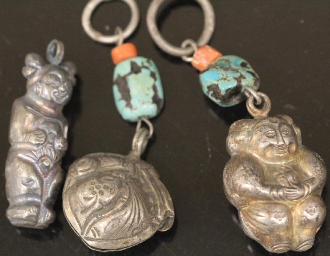 LOT OF (15) CHINESE SILVER PENDANTS - 2