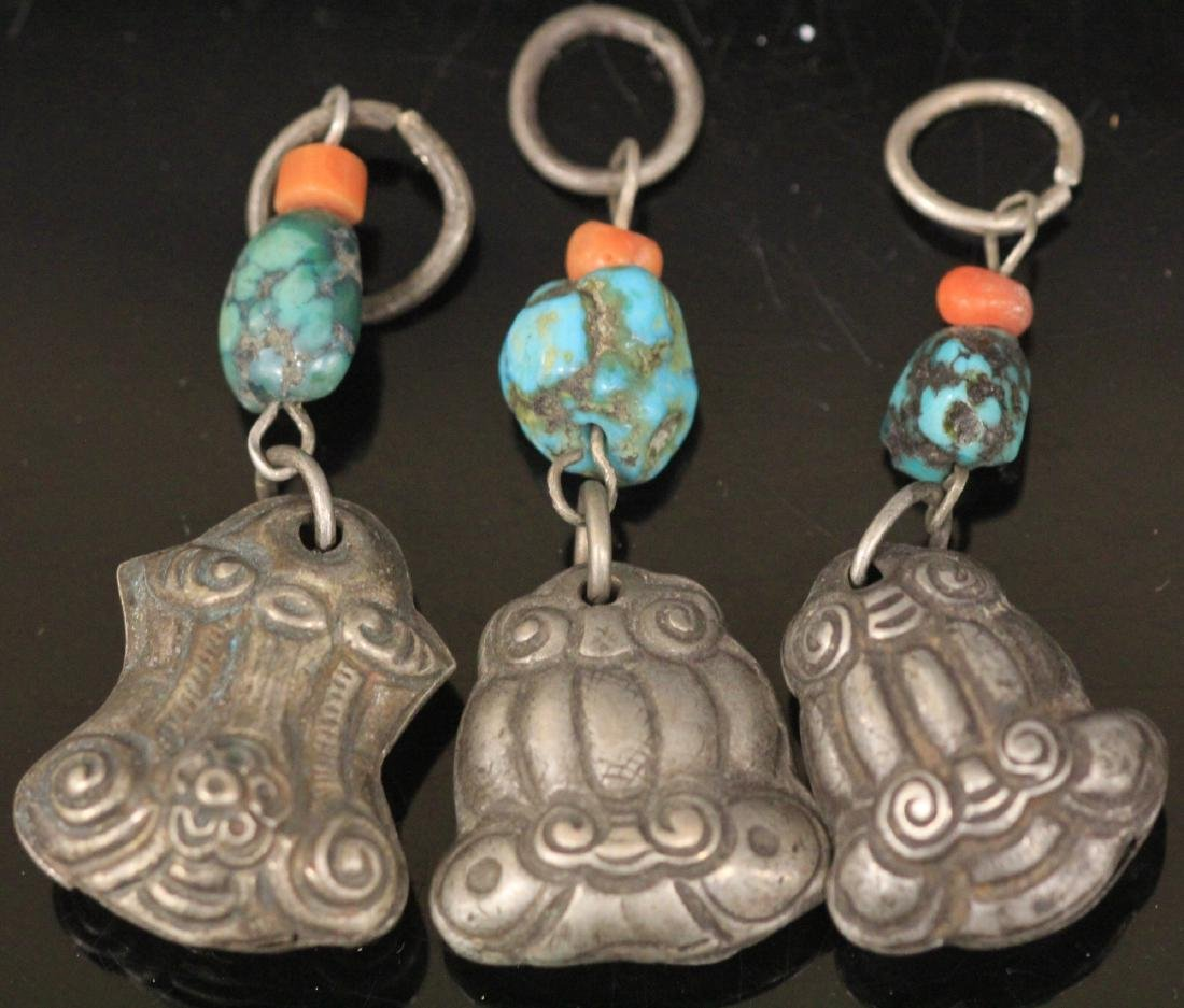 LOT OF (15) CHINESE SILVER PENDANTS - 3