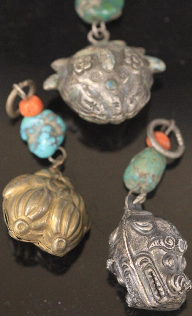 LOT OF (15) CHINESE SILVER PENDANTS - 7