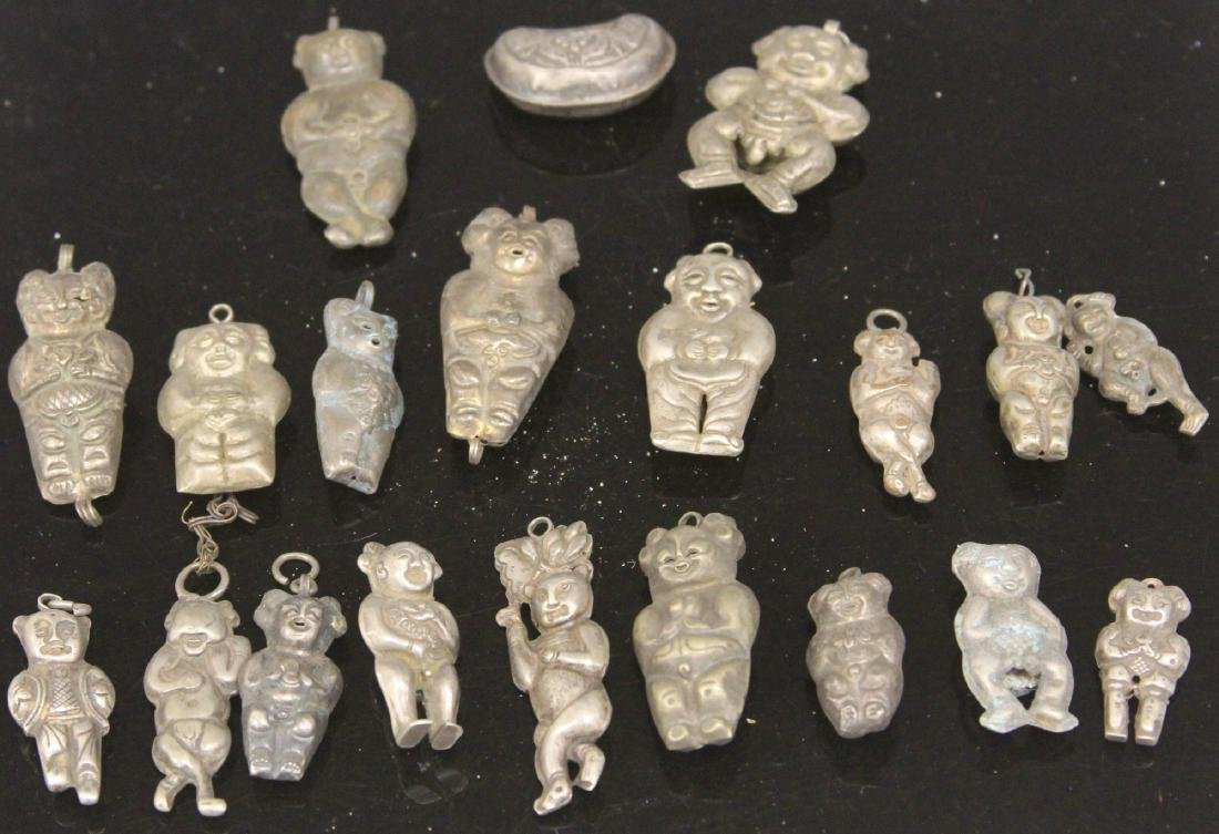 LOT OF (20) CHINESE SILVER PENDANTS