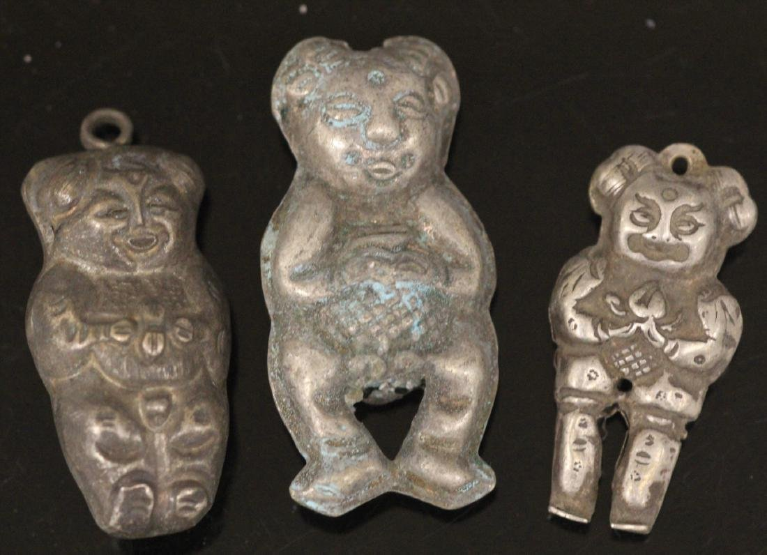 LOT OF (20) CHINESE SILVER PENDANTS - 2