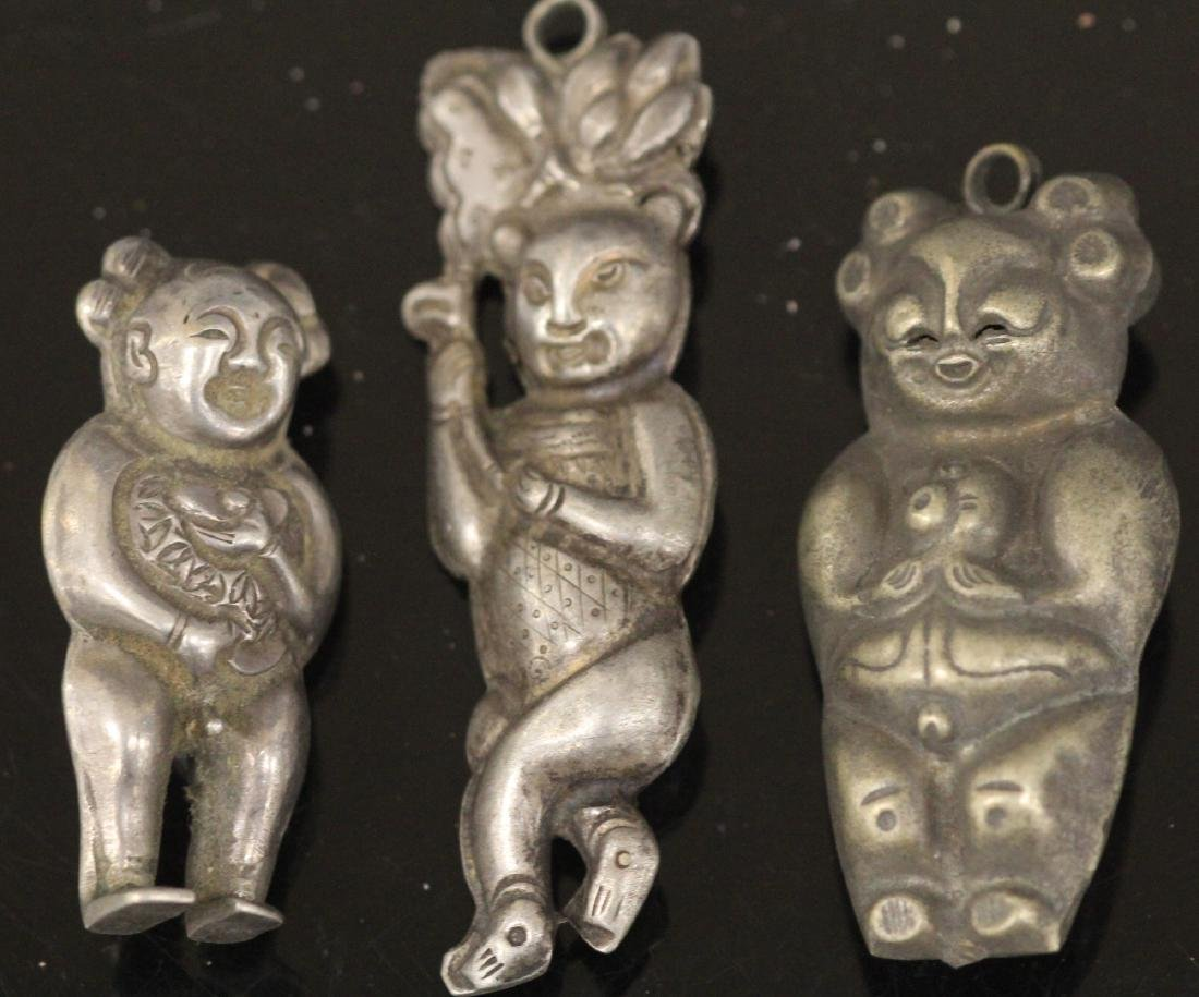 LOT OF (20) CHINESE SILVER PENDANTS - 3