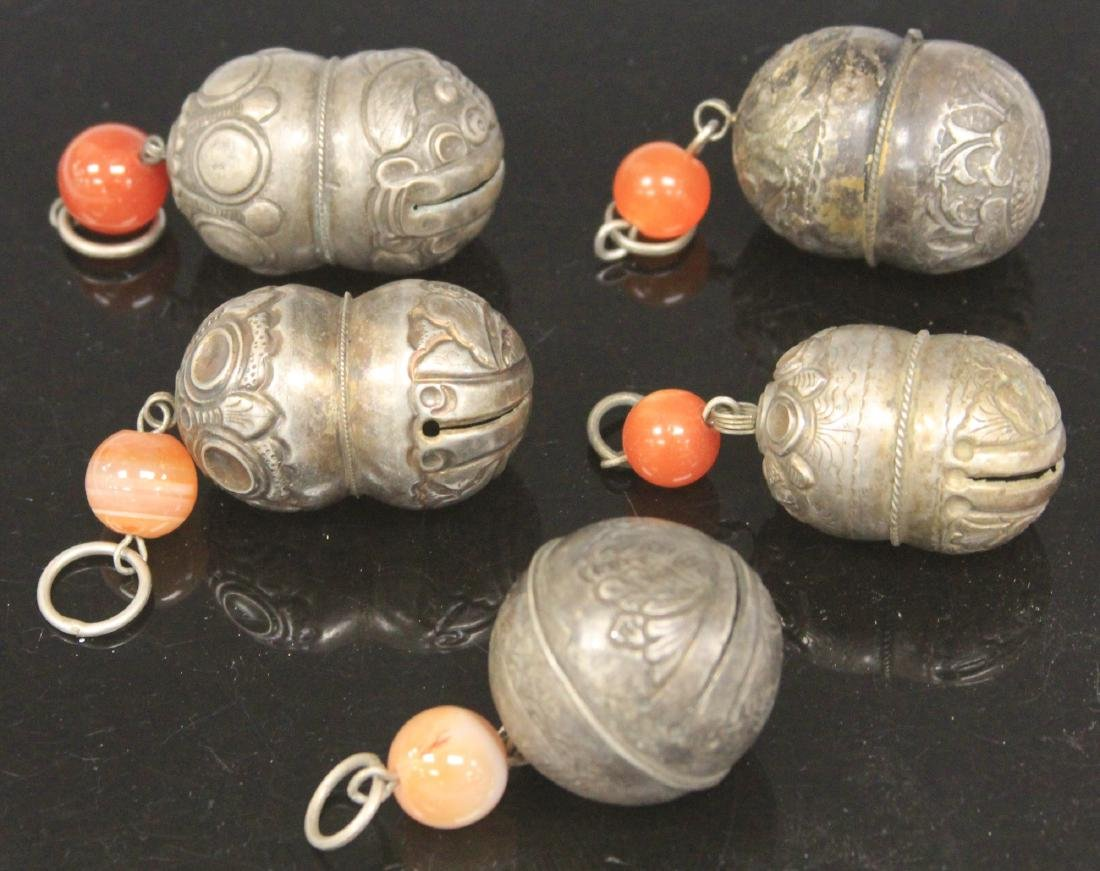 LOT OF (5) CHINESE SILVER BELLS