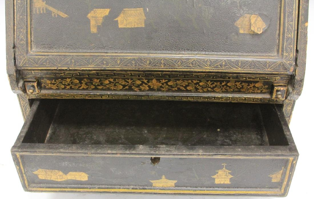 18TH C. CHINESE LACQUERED TABLE TOP DESK - 10