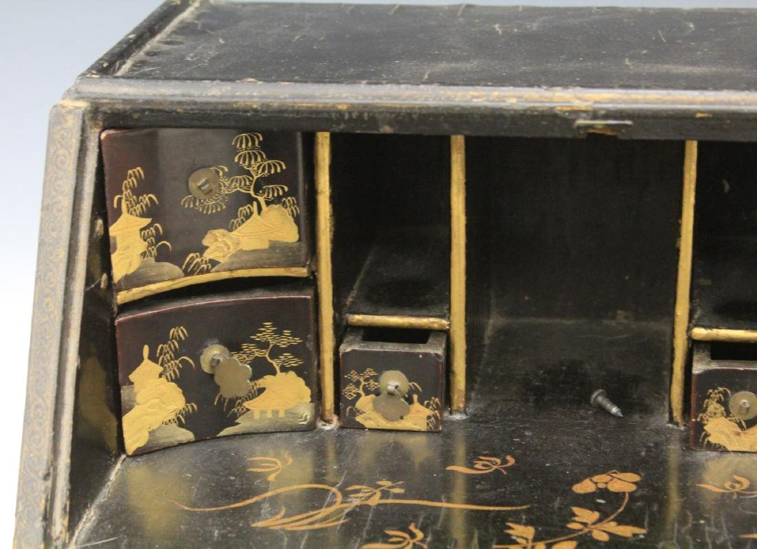 18TH C. CHINESE LACQUERED TABLE TOP DESK - 7
