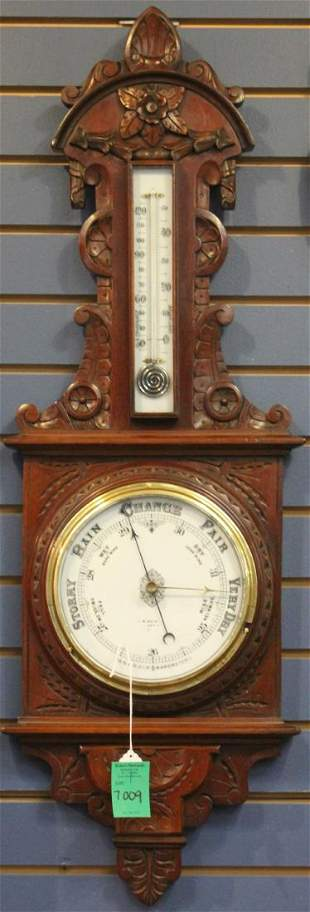 CONTINENTAL CARVED WALL BAROMETER