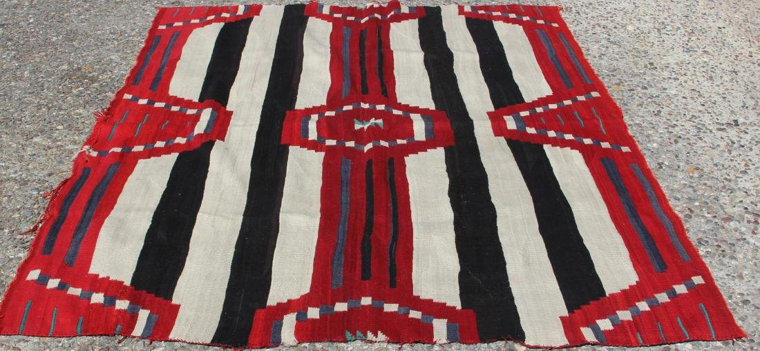 NATIVE AMERICAN 3RD PHASE CHIEFS BLANKET, 19TH C.