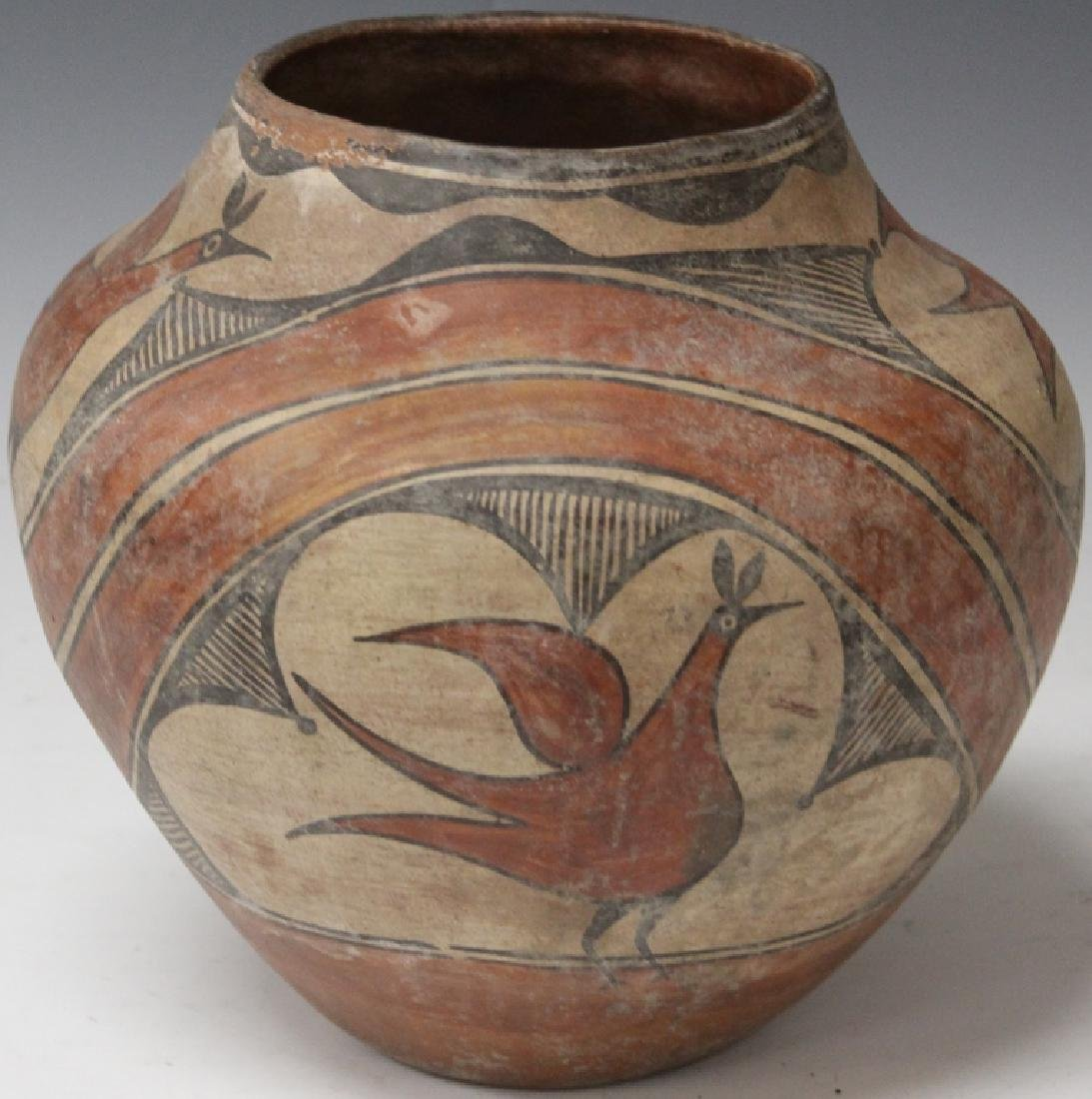 POLYCHROME NATIVE AMERICAN POT, C. 1939 - 4