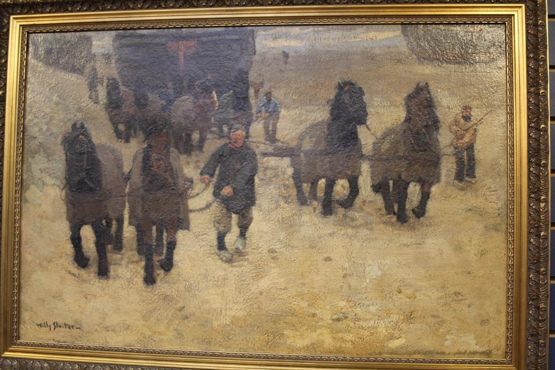 WILLY SLUITER (1873-1949),  OIL ON CANVAS