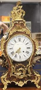 LOUIS XV PERIOD BRONZE SHELF CLOCK, 18TH C.