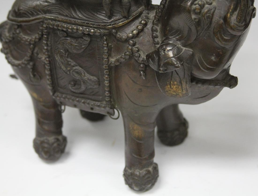19TH/20TH C. BRONZE ELEPHANT CENSERS - 2