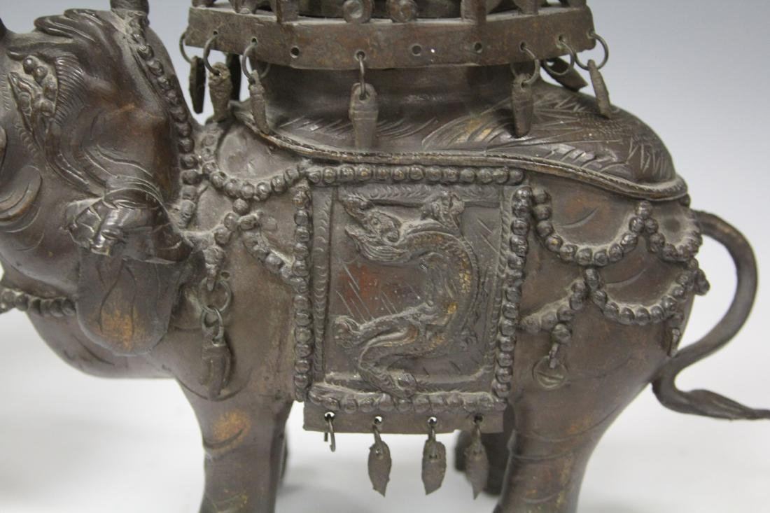 19TH/20TH C. BRONZE ELEPHANT CENSERS - 3