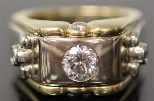 MENS 248CTTW DIAMOND PLATINUM AND 18KT RING