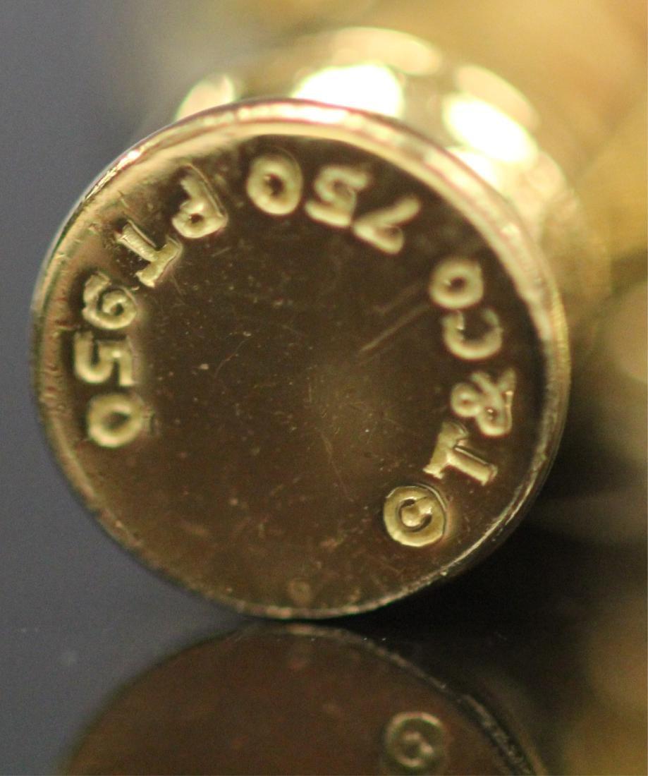 18KT GOLD TIFFANY & CO. CHARM BRACELET W/BOX - 6
