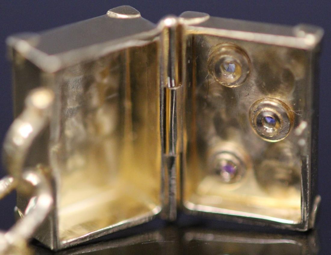 18KT GOLD TIFFANY & CO. CHARM BRACELET W/BOX - 8