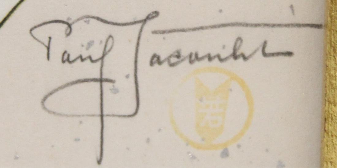 PAIR OF PAUL JACOULET (1896-1960), PENCIL SIGNED - 5