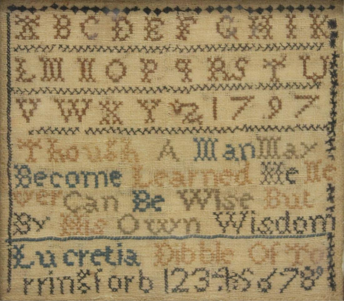 LOT OF (2) ANTIQUE SAMPLERS, 19TH C. - 3