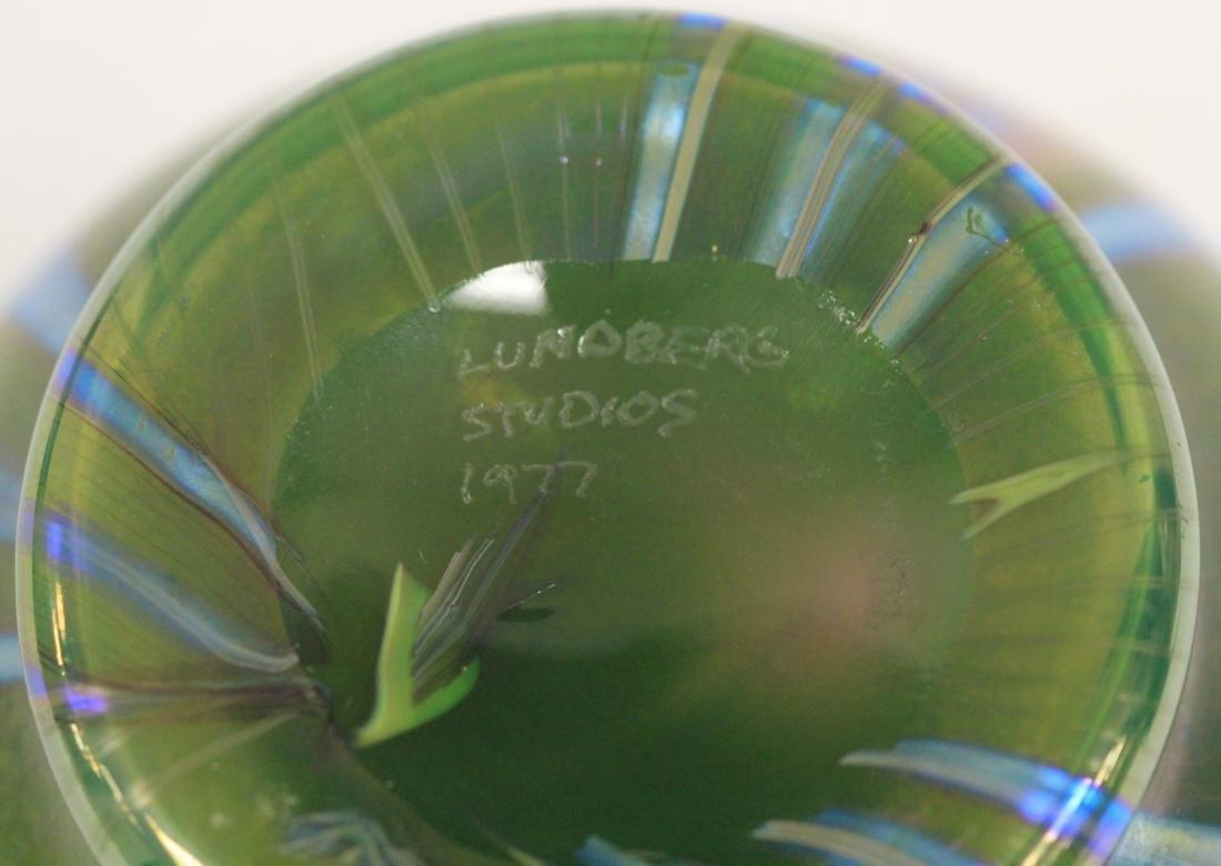 "LUNDBERG STUDIOS ART GLASS VASE, 5"" H - 3"