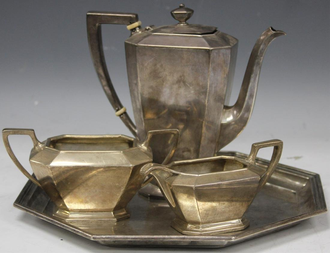STERLING SILVER (4) PC. TEA SERVICE SET, 47 OZT - 2