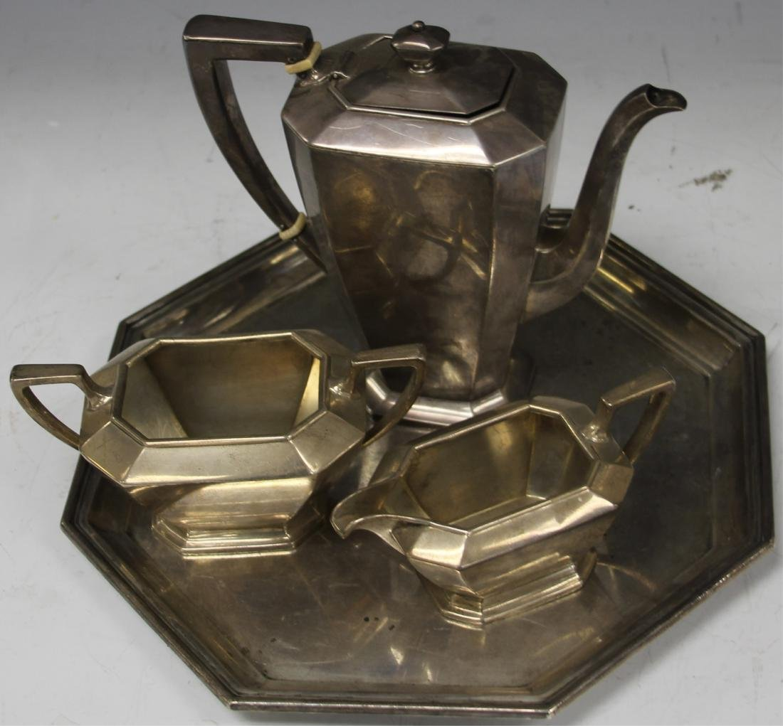STERLING SILVER (4) PC. TEA SERVICE SET, 47 OZT - 3