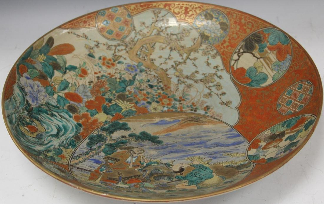 19TH C. JAPANESE SATSUMA PAINTED CHARGER