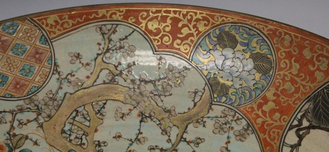 19TH C. JAPANESE SATSUMA PAINTED CHARGER - 4