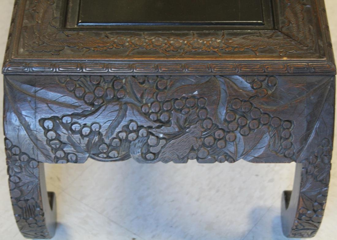 VINTAGE CARVED ASIAN COFFEE TABLE - 2