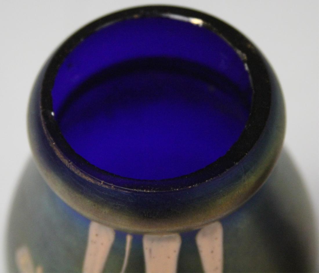 LOT OF (2) VINTAGE ART GLASS VASES - 4