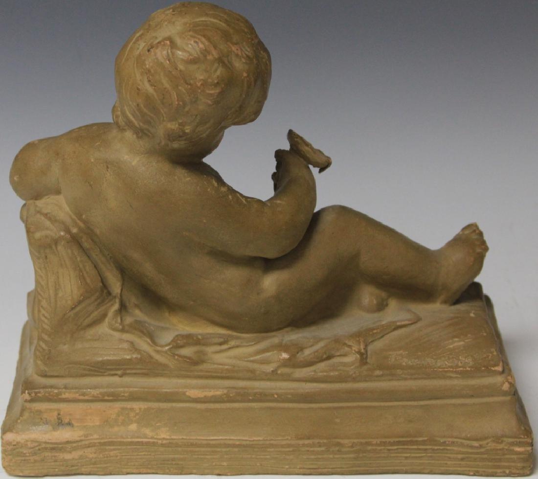 TERRA COTTA FIGURE, ARTIST SIGNED, 1850'S - 3